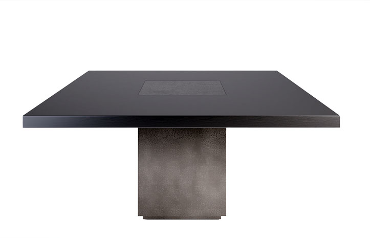LUMA's Block Dining Table. Custom, luxury furniture made with locally sourced materials.