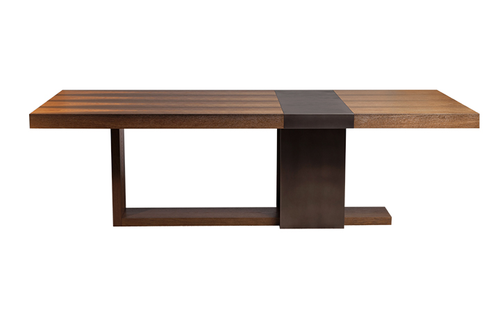 Bog Oak Strap Dining Table by LUMA Design Workshop. Custom furniture built by hand in Seattle, WA and offered in furniture showrooms across the United States and Canada.